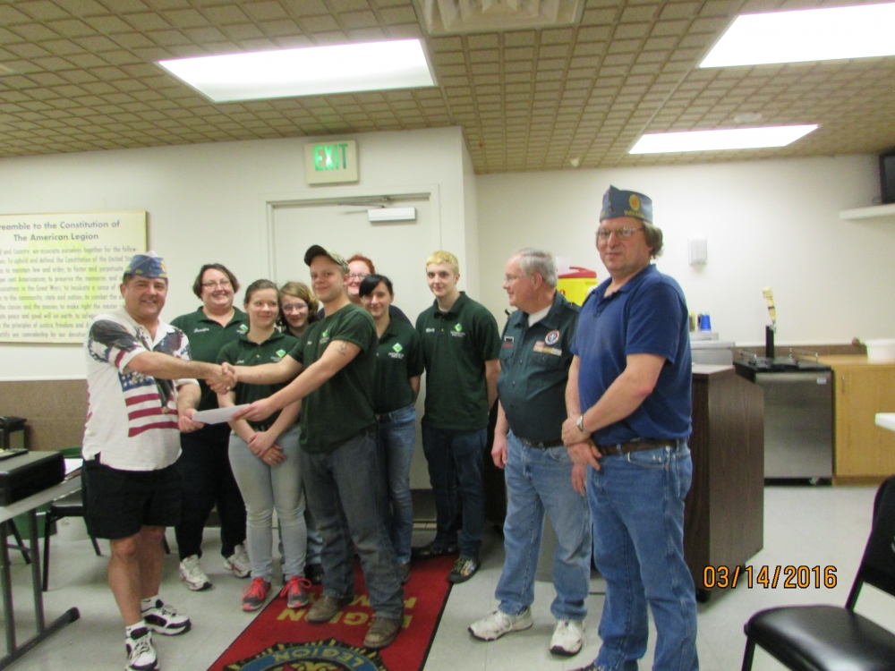 sons of american legion sal post 241 donates 500 to boy scout troop 344 ne indiana fort. Black Bedroom Furniture Sets. Home Design Ideas