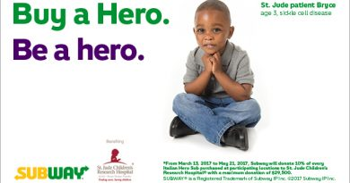 Subway Promotion Assists St. Jude Children's Research Hospital