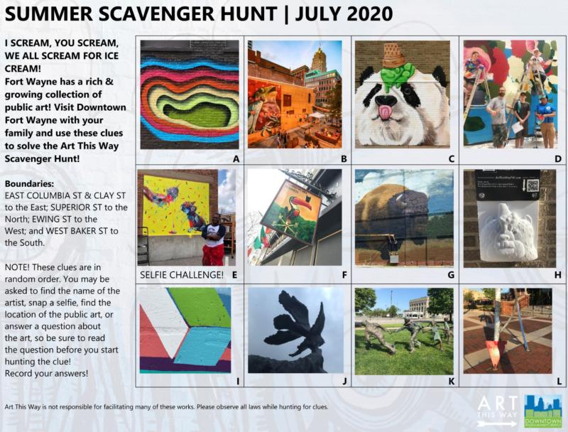 Art This Way & Fort Wayne Downtown Improvement District Announce A Summer Scavenger Hunt